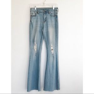 House of Harlow High Rise Flare Distressed Size 26